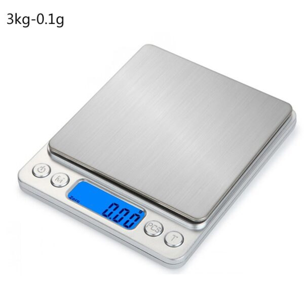LCD Kitchen Scale Gram Electronic Jewelry Scales Weight Balance for Tea Baking Digital Weighing 500g/1/2/3kg