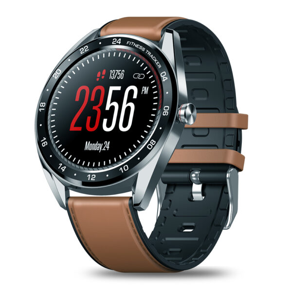 [Female Physiological Check] Zeblaze NEO 1.3inch Full-round Touch Screen Blood Pressure Heart Rate Monitor Countdown Silicone+Leather Band Smart Watch